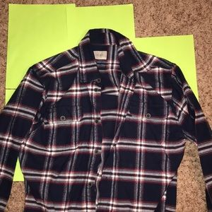Men's Red and Navy Flannel